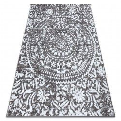 Carpet RETRO HE183 grey / cream Vintage