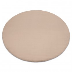 Carpet BUNNY circle taupe beige IMITATION OF RABBIT FUR