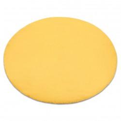 Kulatý koberec BUNNY, zlatá, imitace králíčí kožešiny