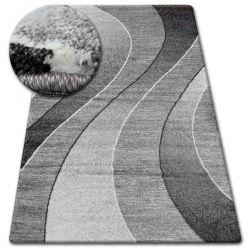 Kulatý koberec SHADOW 8595 vizon / bílá