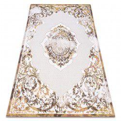 Teppich ACRYL DIZAYN 6166/0243 elfenbein / gelb
