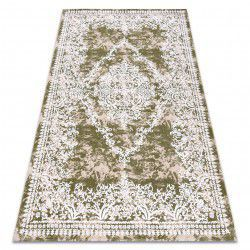Carpet ACRYLIC DIZAYN 143 green / ivory