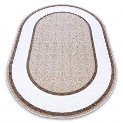 Akril DIZAYN szőnyeg ovális 141 elefántcsont / sötét bézs