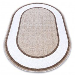 Carpet ACRYLIC DIZAYN oval 141 ivory / dark beige