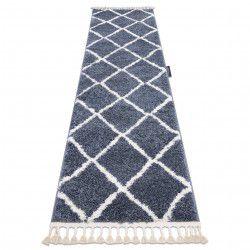 Carpet, Runner BERBER CROSS grey - for the kitchen, corridor & hallway