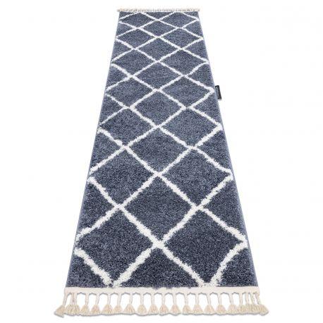 Alfombra, alfombra de pasillo BERBER CROSS gris - para la ...