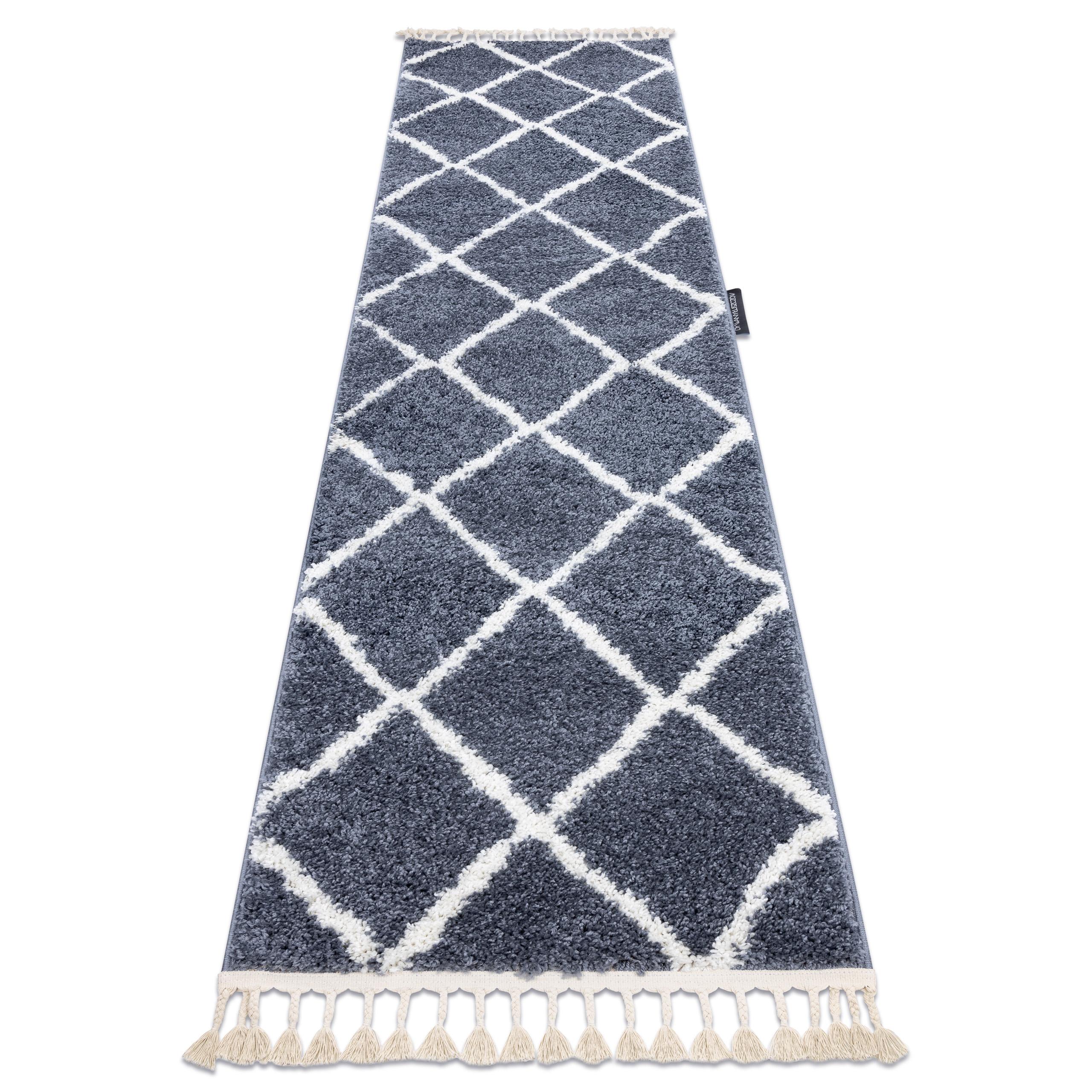 Carpet Runner Berber Cross Grey For The Kitchen Corridor Hallway Berber