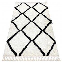 Carpet BERBER CROSS white Fringe Berber Moroccan shaggy
