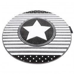 Carpet PETIT STAR circle grey