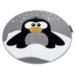 Covor PETIT PENGUIN PINGUIN ZĂPADĂ cerc gri