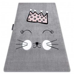 Tapis PETIT CAT CHAT COURONNE gris