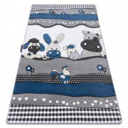 Carpet PETIT FARM ANIMALS blue