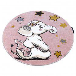 Covor PETIT ELEPHANT ELEFANT STEA cerc roz