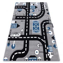 Carpet PETIT CITY STREETS grey any size