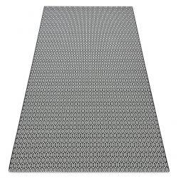 Carpet SISAL FLAT 48603690 Honeycomb white black