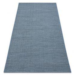 Dywan SZNURKOWY SIZAL FORT 36201035 niebieski jednolity jednokolorowy gładki BOHO