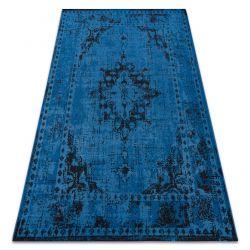 Dywan Vintage 22205073 niebieski rozeta klasyczny