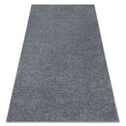 Carpet wall-to-wall SANTA FE grey 97 plain, flat, one colour
