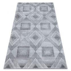 Ковер Structural SIERRA G5011 плоский тканый серый / черный - геометрический, бриллианты