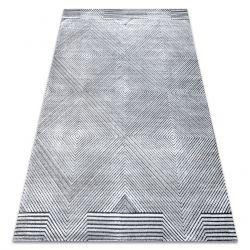 Ковер Structural SIERRA G5012 плоский тканый серый - геометрический, бриллианты