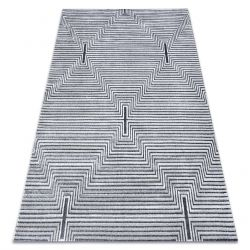 Килим Structural SIERRA G5018 плоски тъкани сив - ленти, диаманти