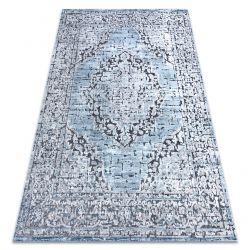 Tappeto Structural SIERRA G8076 tessuto piatto blu / grigio - rosone
