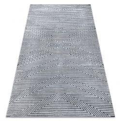 Koberec Structural SIERRA G5013 ploché tkané šedá - zigzag, ethnic