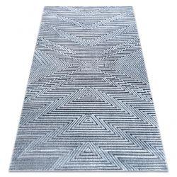 Koberec Structural SIERRA G5013 ploché tkané modrý - zigzag, ethnic