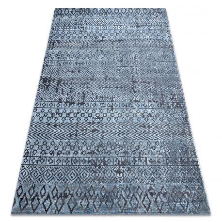 Tappeto Structural SIERRA G6042 tessuto piatto blu - geometrico, etnica