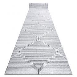 Дорожки Structural SIERRA G5018 плоский тканый серый - полоски, бриллианты