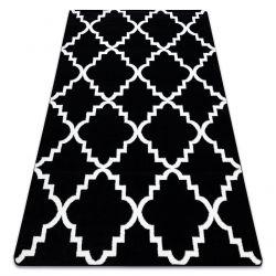 Dywan SKETCH - F343 czarno/biały koniczyna marokańska trellis