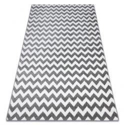 Килим SKETCH – F561 бяло/сиво – зигзаг