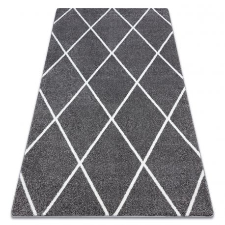 Carpet SKETCH - F728 grey /white trellis - Diamonds