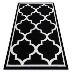 Tappeto SKETCH - F730 nero/bianco marocco trifoglio trellis