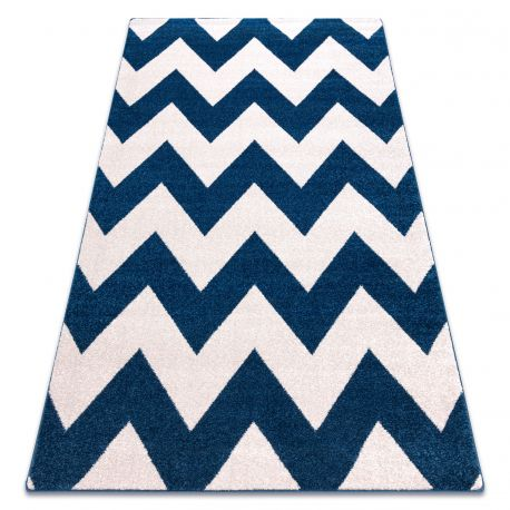 Carpet SKETCH - FA66 blue/white - Zigzag