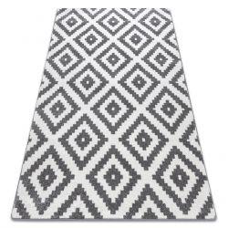 Tapis SKETCH - F998 blanc et gris - Carreaux Ruta
