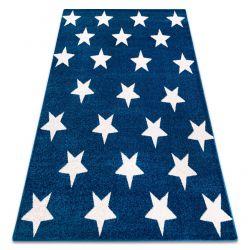 Tapis SKETCH - FA68 bleu et blanc - Petites étoiles Étoiles