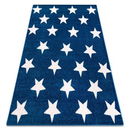 Килим SKETCH – FA68 синьо/бяло – звезди