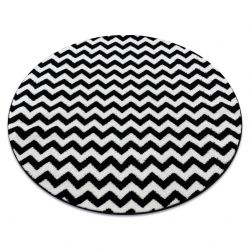 Carpet SKETCH circle - F561 black/white - Zigzag