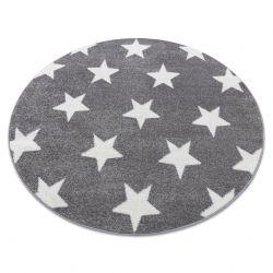 Килим SKETCH кръг – FA68 бяло/сиво – звезди