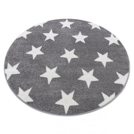 Sketch szőnyeg kör - FA68 szürke / fehér - Csillagok