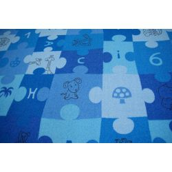 Carpet PUZZLE blue
