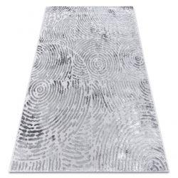 Alfombra moderna MEFE 8725 círculos Huella dactilar - Structural dos niveles de vellón gris