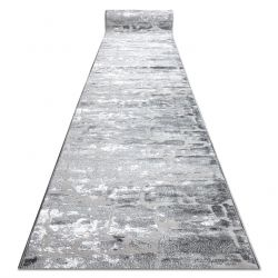 Alfombra de pasillo Structural MEFE 6184 dos niveles de vellón gris oscuro