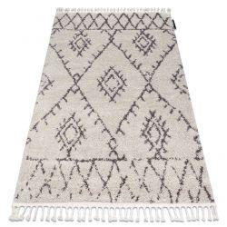 Tappeto BERBER FEZ G0535 crema / marrone Frange berbero marocchino shaggy