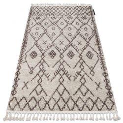Carpet BERBER TANGER B5940 cream / brown Fringe Berber Moroccan shaggy
