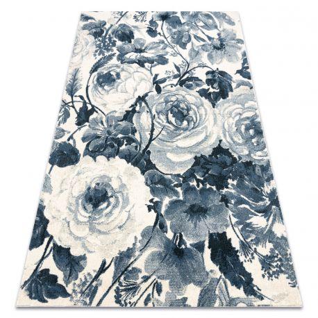 Koberec HENT 78316652 Květiny modrý / béžový