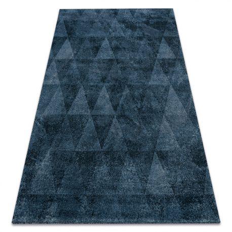 Dywan HENT 78312392 Trójkąty geometryczny przecierany niebieski