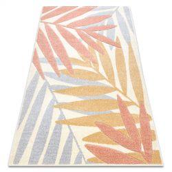 Koberec FEEL 1827/17933 Listy béžový/terakota/fialový