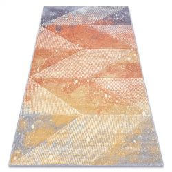 Tapis FEEL 5756/17944 Diamants beige/terre cuite/violet